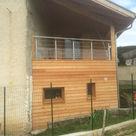 Bardage en Mélèze sur une extension bois à Renage