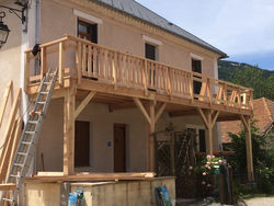 Réalisation d'une terrasse à Lus-la-Croix-Haute