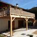 Terrasse Douglas sur poteaux à Vassieux en Vercors